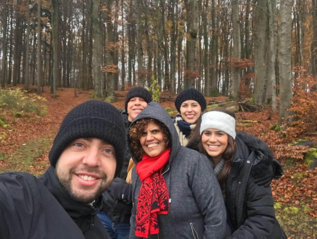 Família reunida na Suiça