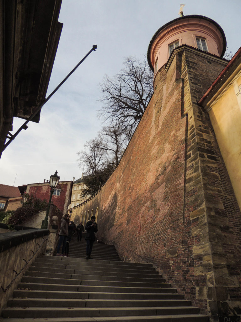 Escadarias castelo de Praga