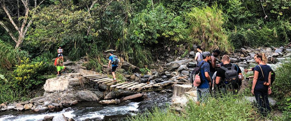 Uma das pontes que atravessamos na Inca Jungle