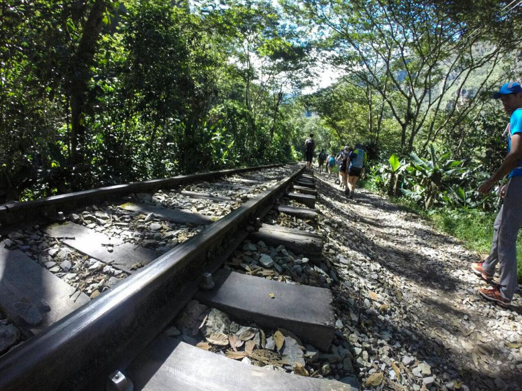 Trilhos do trem da hidrelétrica