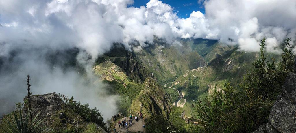 Vista da montanha Huayna Picchu