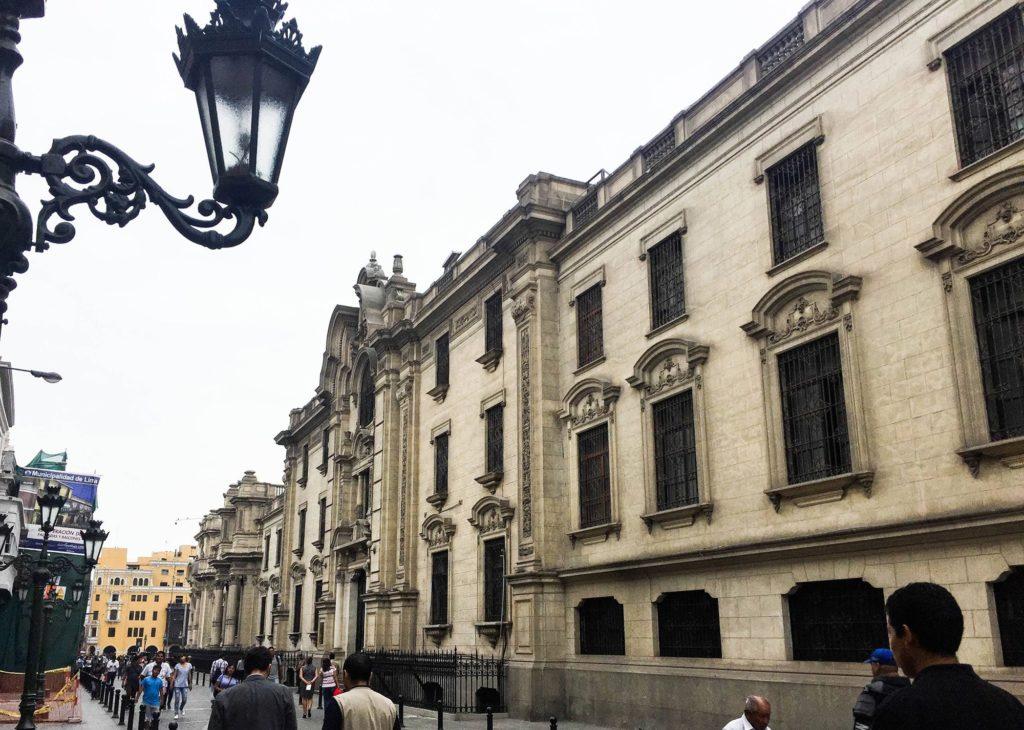 Ruas do centro histórico de Lima